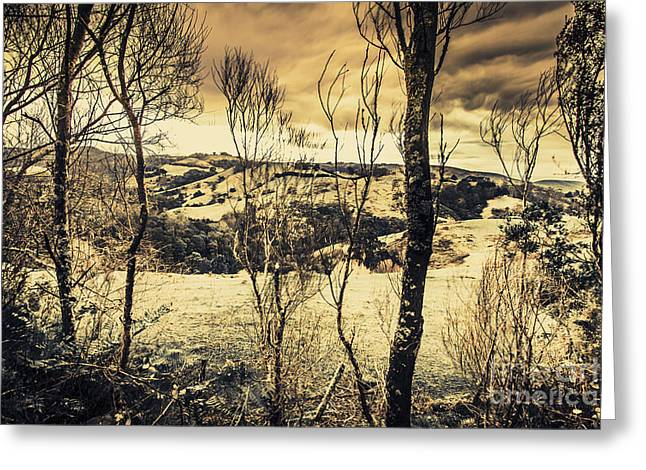 Country Victoria Winter Scene Greeting Card