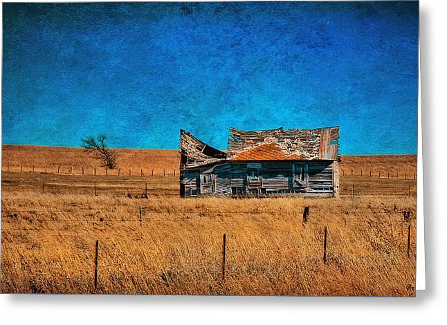 Countryside Abandoned House Greeting Card