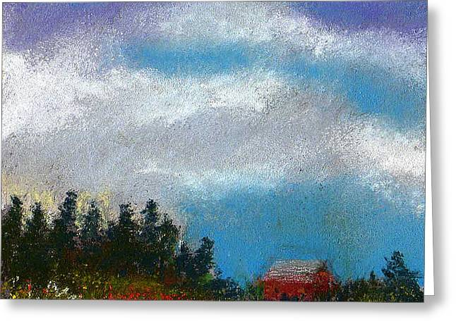 Field. Cloud Pastels Greeting Cards - Countryside III Greeting Card by David Patterson