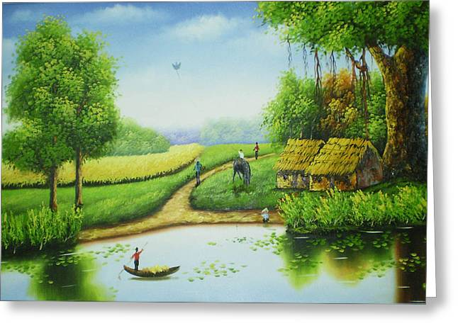 Countryside In My Eyes Greeting Card