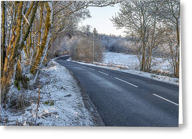 Countryside Road In Central Scotland Greeting Card