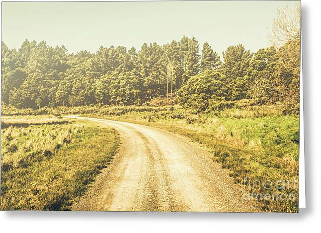 Countryside Road In Outback Australia Greeting Card by Jorgo Photography - Wall Art Gallery