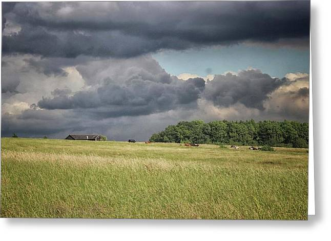 Countryside Storms Greeting Card by Martin Newman