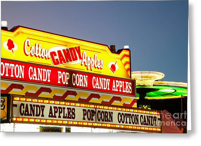 County Fair Concession Stand Food Sign Greeting Card by Paul Velgos