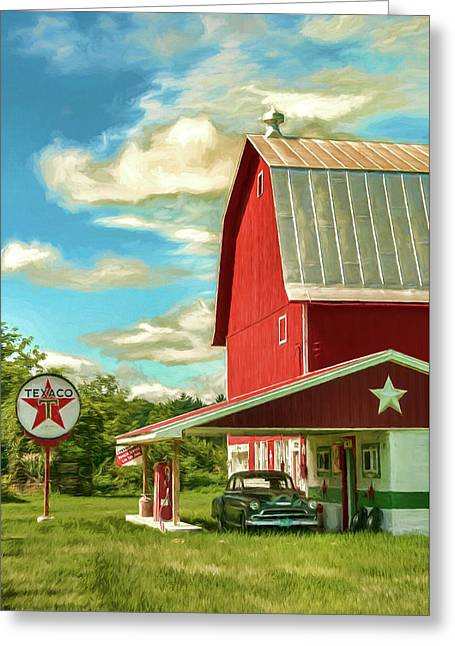 County G Classic Station Greeting Card by Trey Foerster