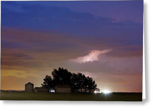County Line 1 Northern Colorado Lightning Storm Greeting Card
