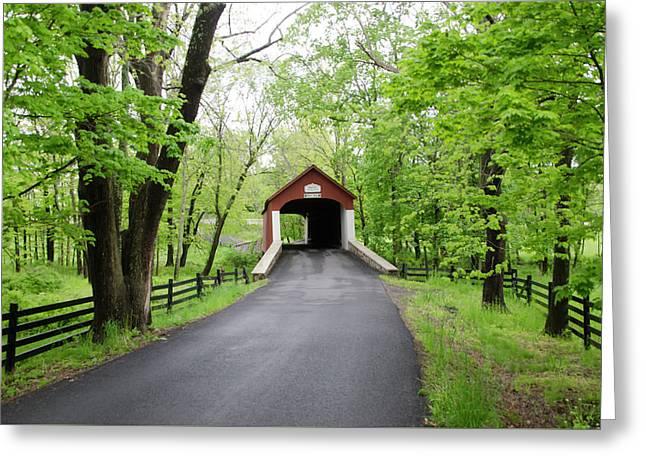 County Of Bucks - Knechts Coverd Bridge Greeting Card