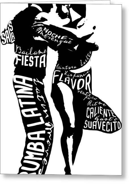Couple Dancing Latin Music Greeting Card