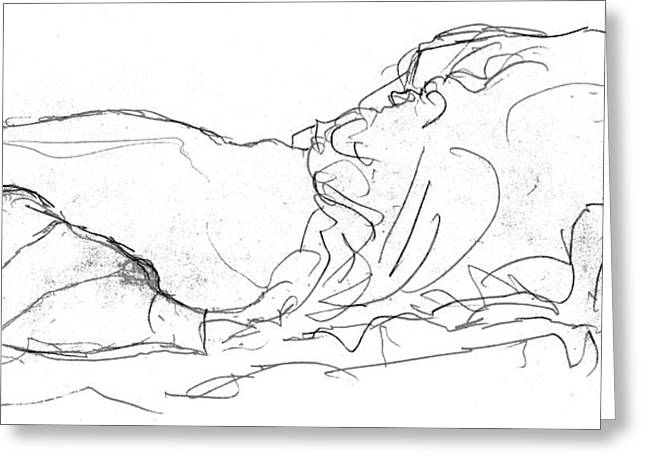 Couple In Bed Greeting Card