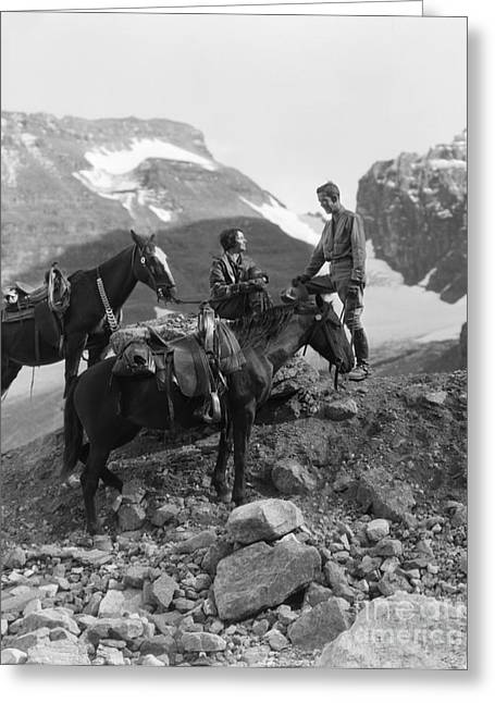 Couple Out Riding In Mountain Greeting Card by H. Armstrong Roberts/ClassicStock