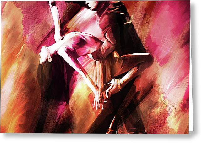 Couple Tango Art Greeting Card by Gull G