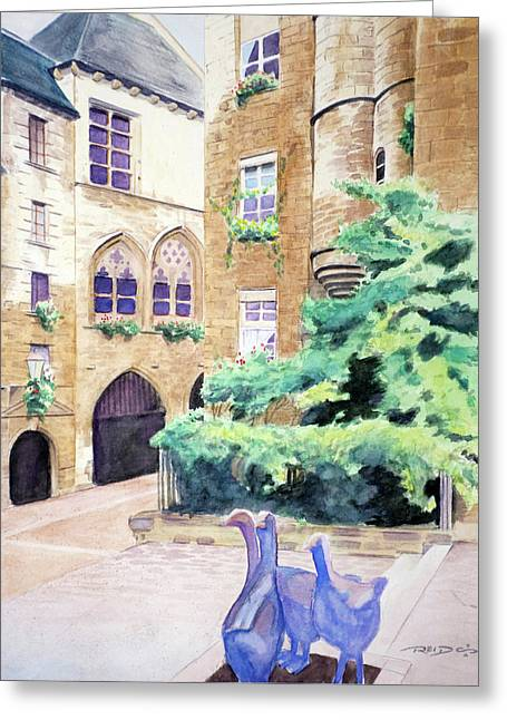 Cour D'oie Greeting Card