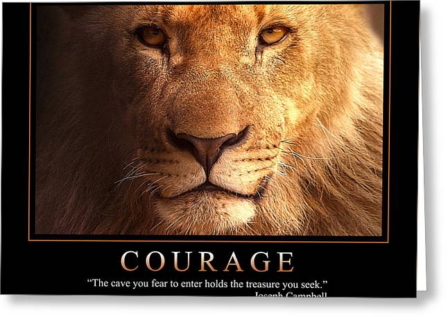 Courage 1 Greeting Card