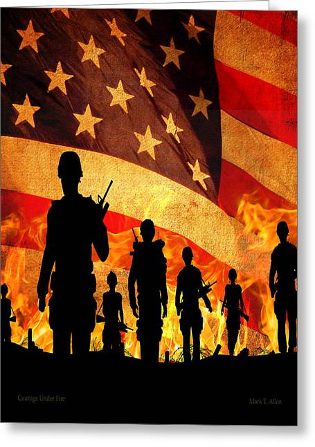 Courage Under Fire Greeting Card by Mark Allen