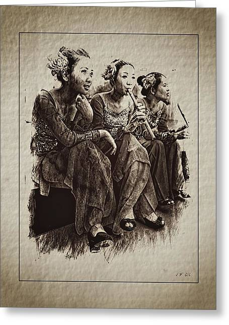 China Greeting Card by Jean Francois Gil