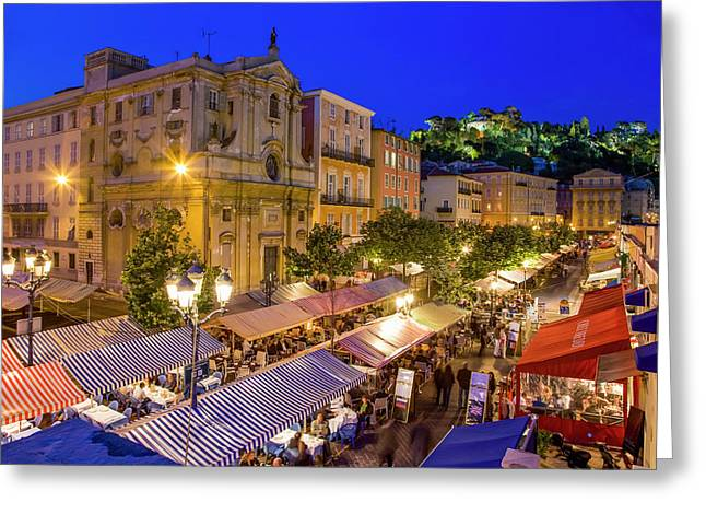 Cours Saleya In Nice Greeting Card by Werner Dieterich