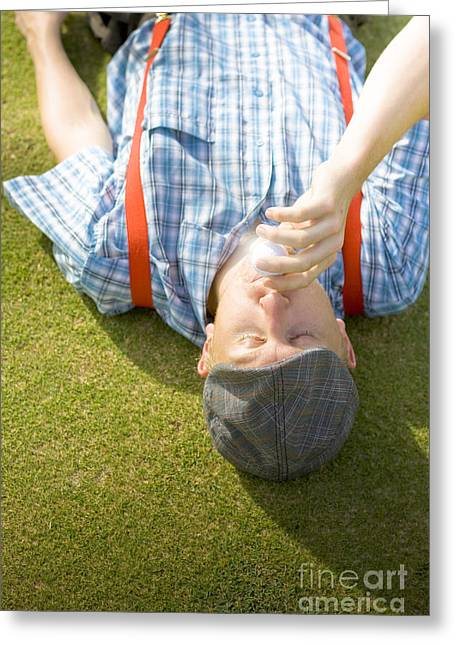 Course Of Golf Romance Greeting Card