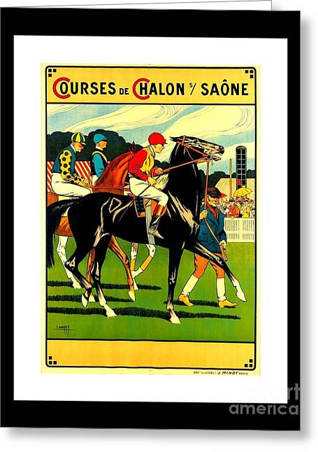 Courses De Chalon French Horse Racing 1911 II Leon Gambey Greeting Card