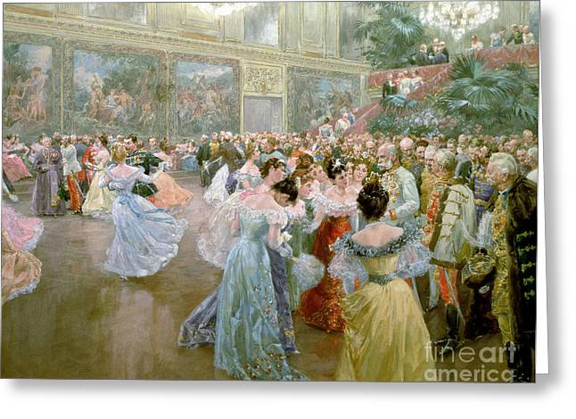 Chandelier Greeting Cards - Court Ball at the Hofburg Greeting Card by Wilhelm Gause