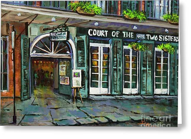 Court Of The Two Sisters Greeting Card