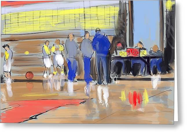 Court Side Conference Greeting Card