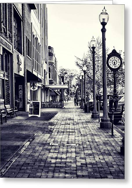 Court Street Clock Florence Alabama Greeting Card