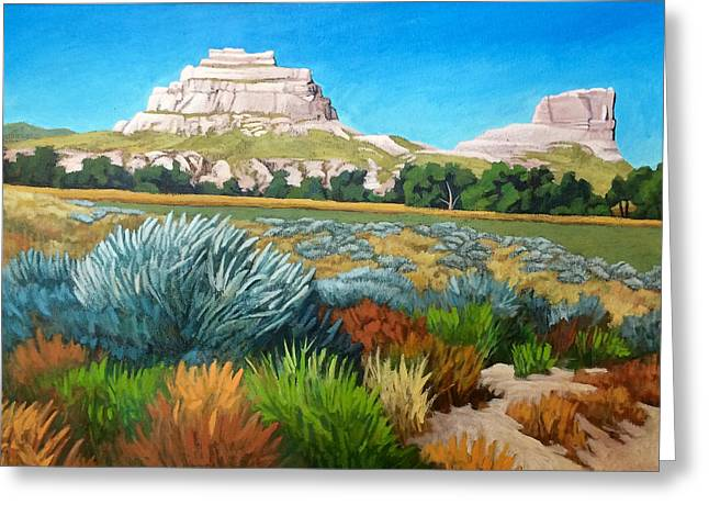 Courthouse And Jail Rocks Acrylic Greeting Card