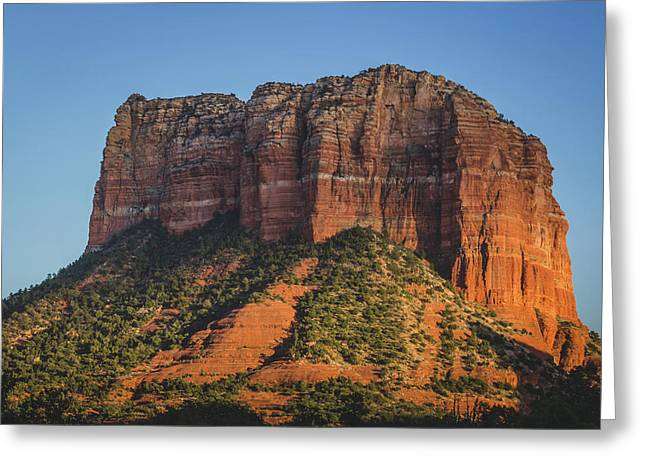 Courthouse Butte At Sunset Greeting Card