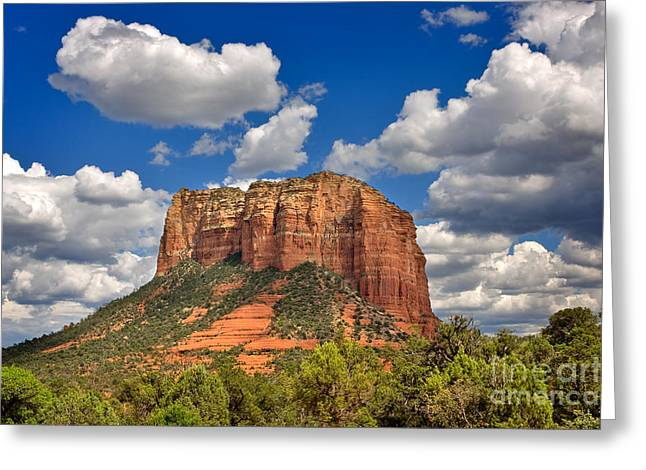 Courthouse Butte Greeting Card by Louise Heusinkveld