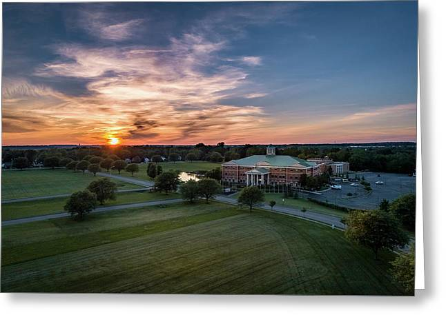 Courthouse Sunset Greeting Card