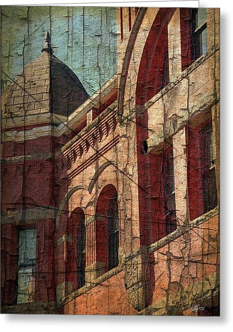 Old Courthouse Turret Greeting Card by Cheryl Rose