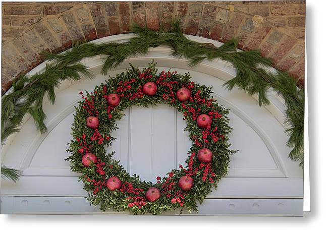Courthouse Wreath Greeting Card by Teresa Mucha