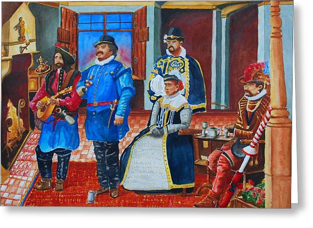 Courtly Song Greeting Card by Gerald Carpenter