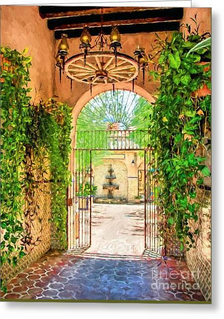 Courtyard Entrance In Sedona Arizona Greeting Card