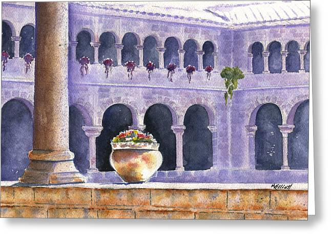 Courtyard In Cuzco Greeting Card