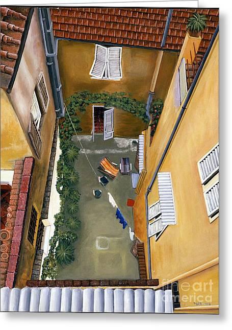 Courtyard In Milan Greeting Card