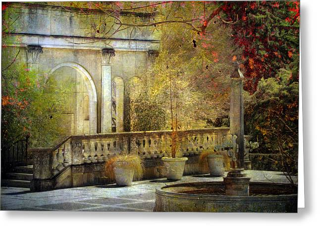 Greeting Card featuring the photograph Courtyard by John Rivera
