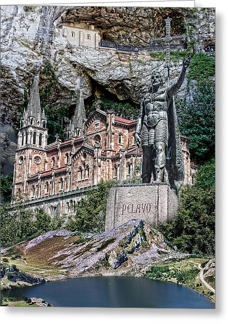 Greeting Card featuring the photograph Covadonga by Angel Jesus De la Fuente