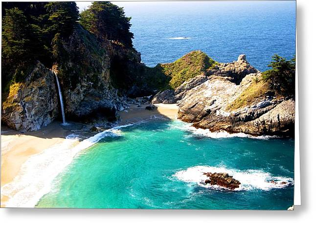Cove And Mcway Falls Greeting Card