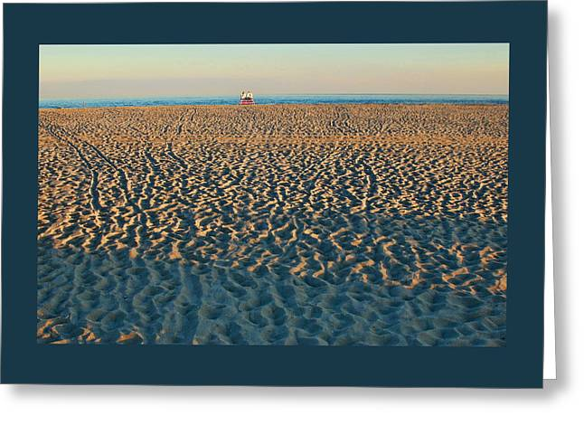 Cove Beach End Of Day Greeting Card by Allen Beatty