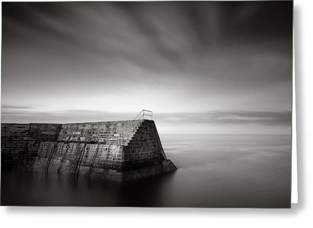 Cove Breakwater Greeting Card by Dave Bowman