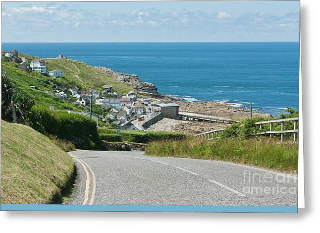 Cove Hill Sennen Cove Greeting Card by Terri Waters