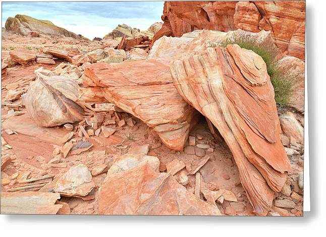Greeting Card featuring the photograph Cove Of Sandstone Shapes In Valley Of Fire by Ray Mathis