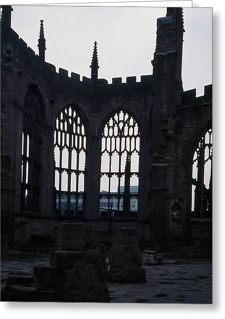 Coventry Cathedral Remains England Greeting Card by Richard Singleton