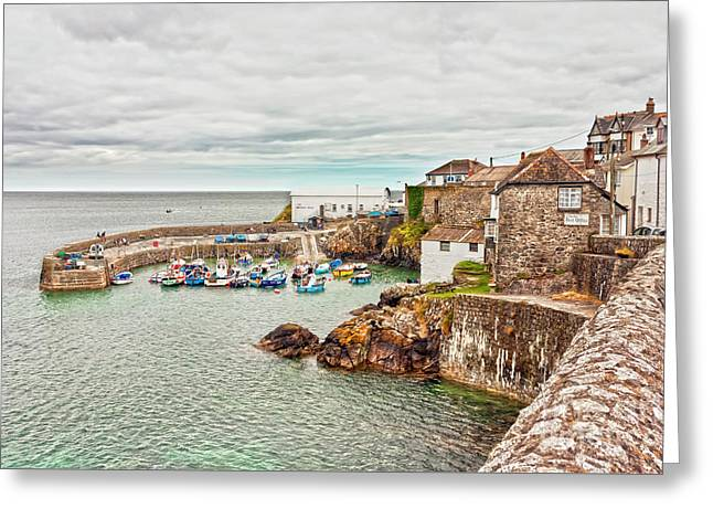 Coverack Harbour Greeting Card