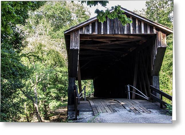Greeting Card featuring the photograph Covered Bridge At Red Oak Creek by Randy Bayne