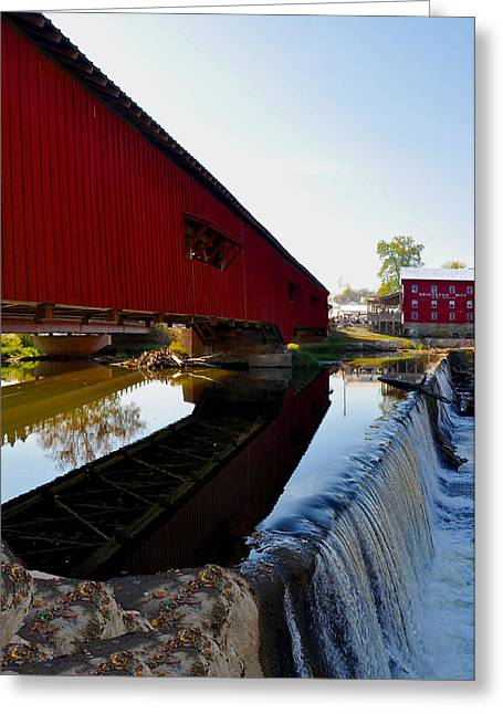 Covered Bridge Festival Greeting Card by Brittany H