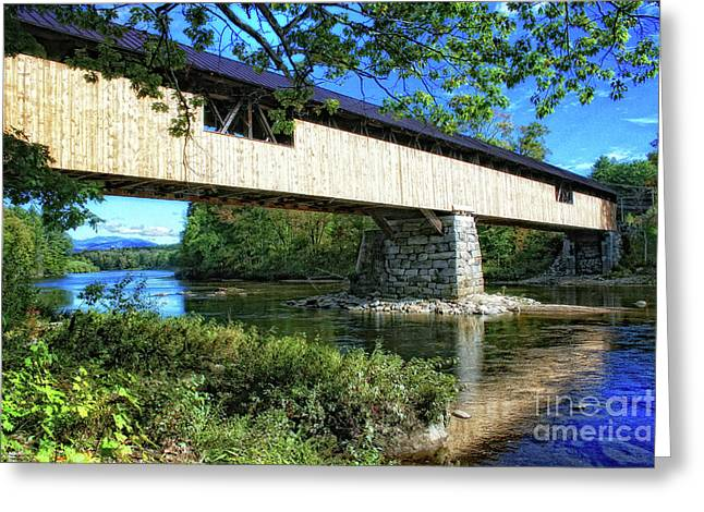 Greeting Card featuring the photograph Covered Bridge by Gina Cormier