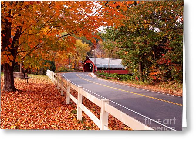 Covered Bridge In Brattleboro Vt Greeting Card