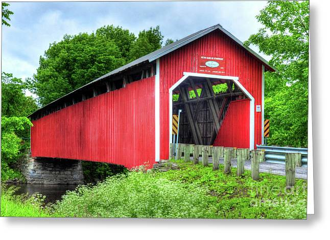 Covered Bridge In Canada Greeting Card